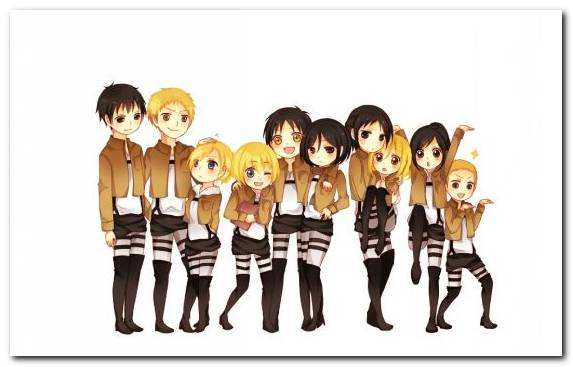 Image social group cartoon eren yeager team Levi