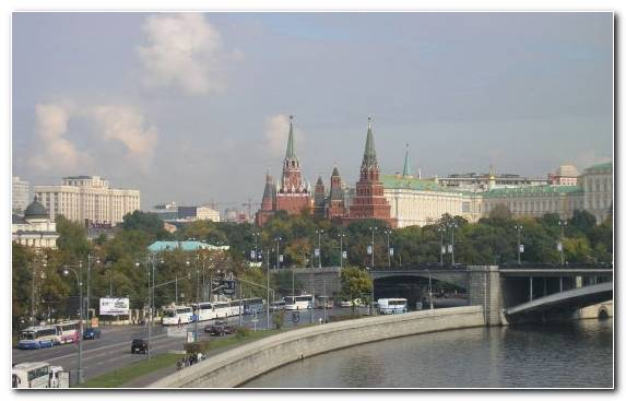 Image Song Moscow Kremlin Horizon Town Moskva River