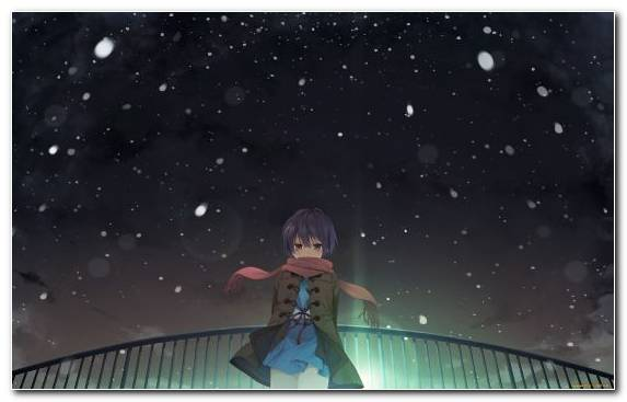 Image space anime snapshot night character