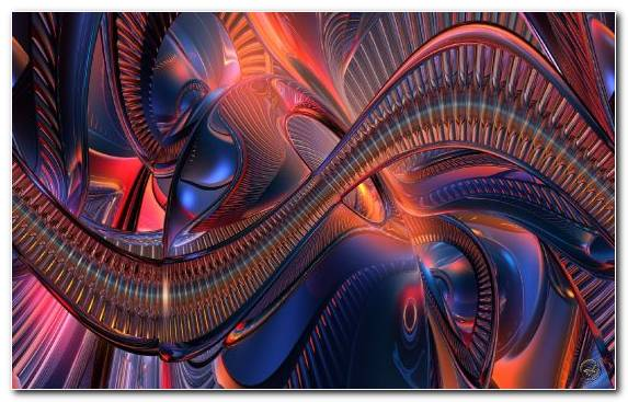 Image Space Fractal Art Special Effects Blue Psychedelic Art