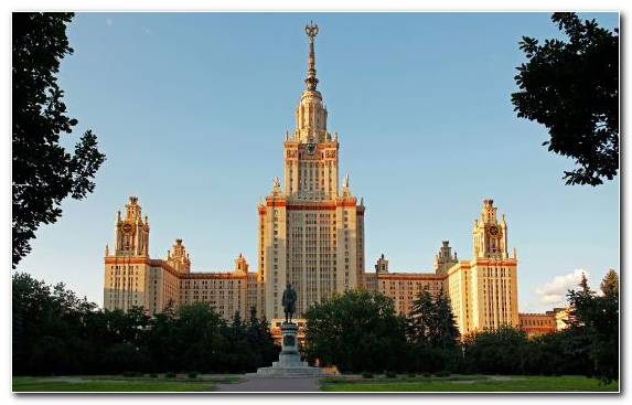 Image Spire Moscow State University Tourist Attraction Spiral Skyscraper