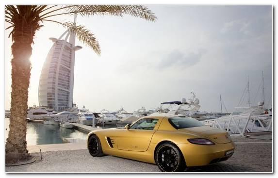 Image sportscar car Dubai Marina burj khalifa Burj Al Arab Jumeirah
