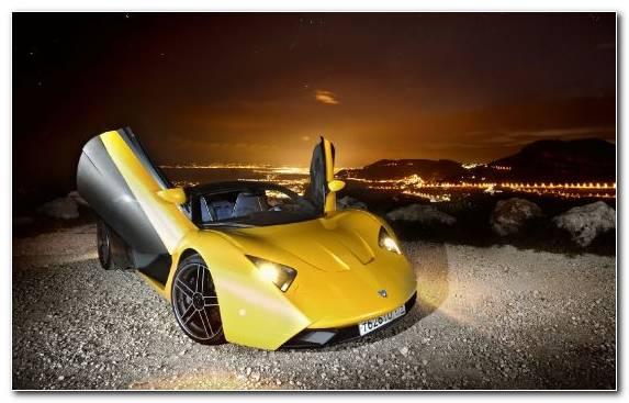 Image sportscar lamborghini Marussia B1 yellow chevrolet