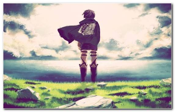 Image Spring Eren Yeager Grass Manga Summer