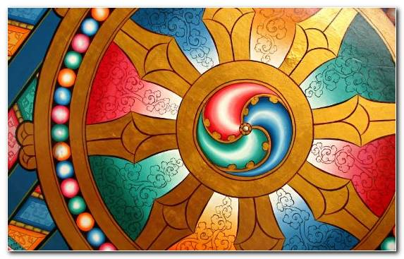 Image Stained Glass Symmetry Dharmachakra Chakra Glass