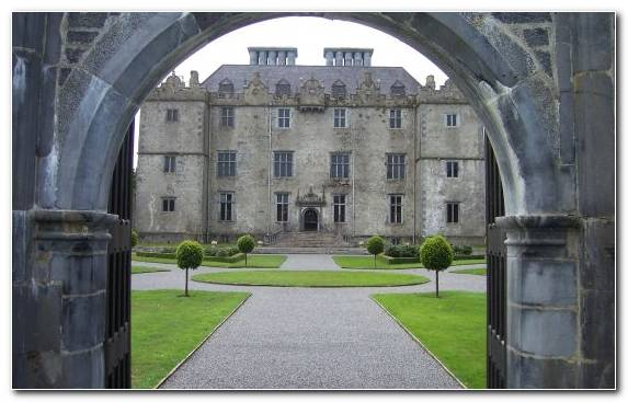 Image Stately Home Castle Arch Courtyard Estate