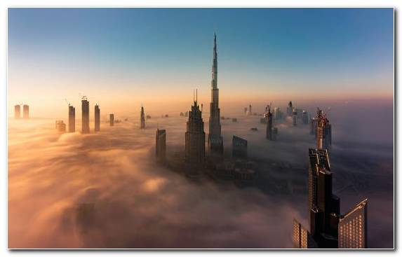 Image Sunrise Dawn Mist Cityscape Metropolis