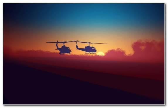 Image Sunrise Military Helicopter Atmosphere Of Earth Clouds Bell 407