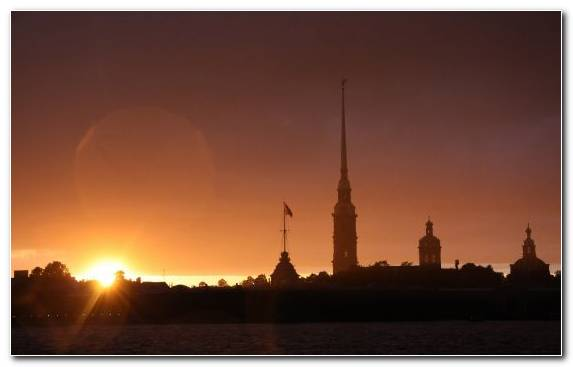 Image Sunset Sky Neva River Evening Spiral