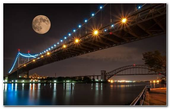 Image Supermoon Full Moon Architecture Harvest Moon Sky