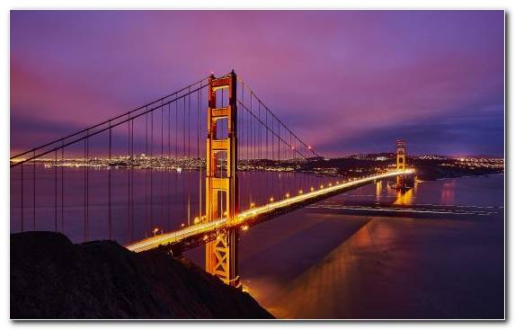 Image Suspension Bridge Dusk Golden Gate Bridge Bridge Sunset