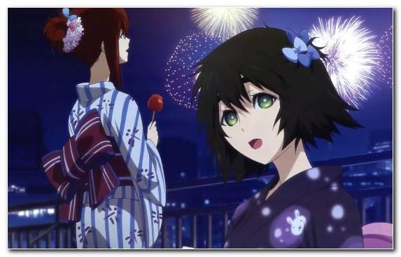 Image Suzuha Amane Rintarou Okabe Kurisu Makise Fireworks Space