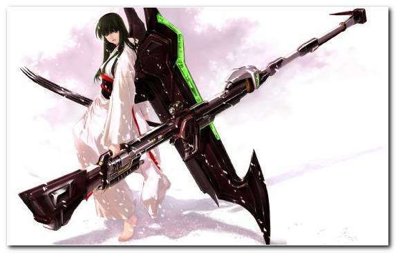Image Sword Lance Girl Cold Weapon Knives