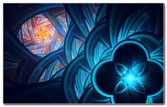 Image symmetry art fractal blue electric blue