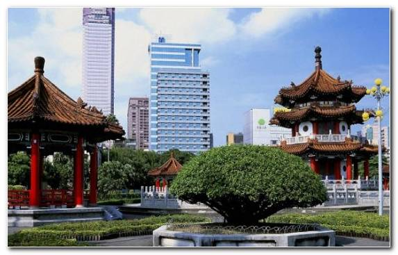 Image taipei taiwan outdoor structure roof tree travel