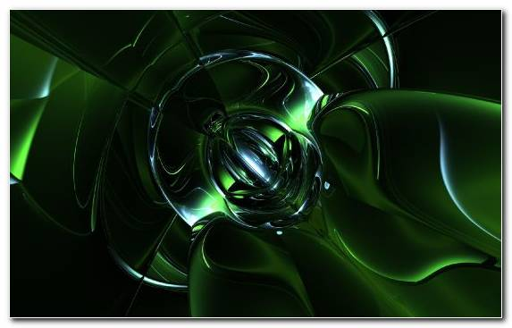 Image Technology Light Green Circle Fractal Art