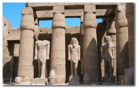 Image Temple Nile Stone Carving Monument Mortuary Temple