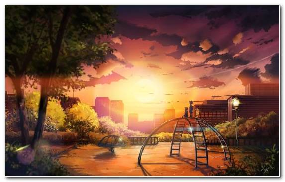 Image Theatrical Scenery Landscape Manga Reflection Morning