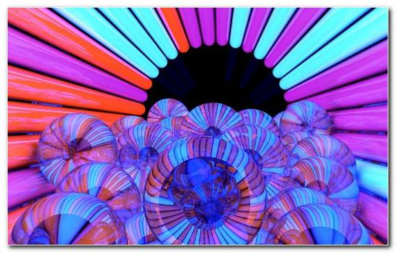Image Three Dimensional Space Optical Illusion Petal Blue Digital Art