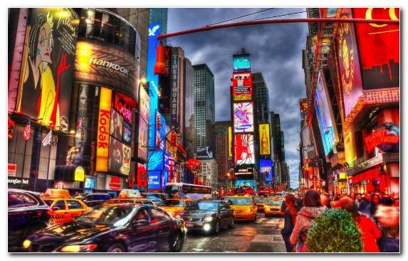 Image Times Square Tourist Attraction Cityscape City Metropolis