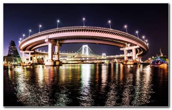 Image Tokyo Tower City Night Landmark Odaiba