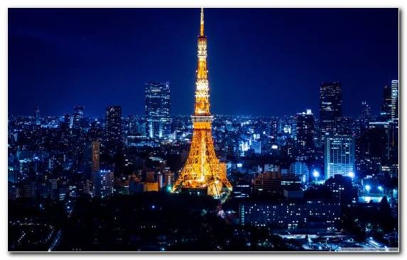 Image Tokyo Tower Horizon Capital City Landmark Urban Area