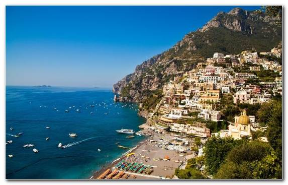 Image Tourism Coast Town Positano Sea