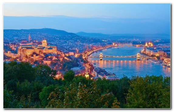 Image Tourism Landmark Danube Birds Eye View Town