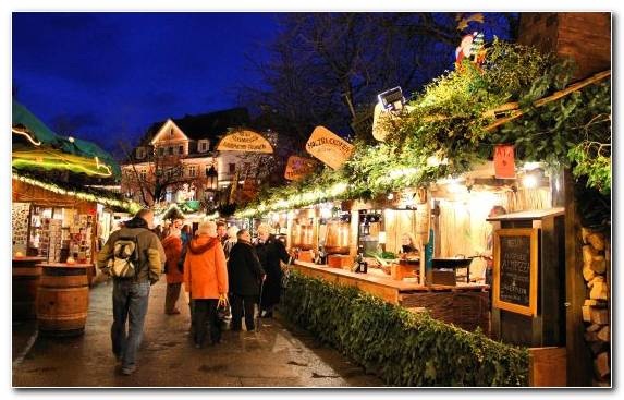 Image Tourism Town Fair Tree Christmas Market