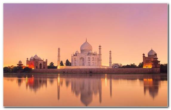 Image Tourist Attraction Taj Mahal Sunrise Morning Landmark