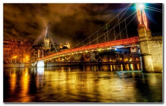 Image tourist attraction capital city paris night landmark