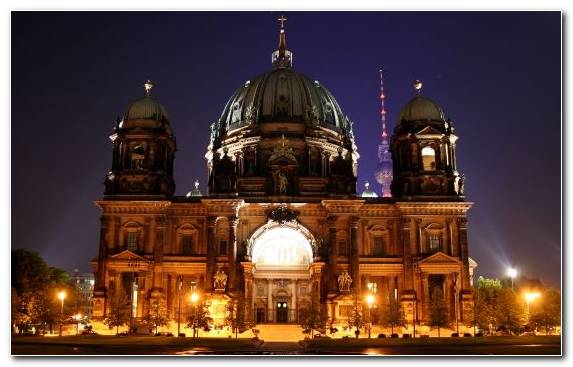 Image tourist attraction cathedral night metropolis tourism