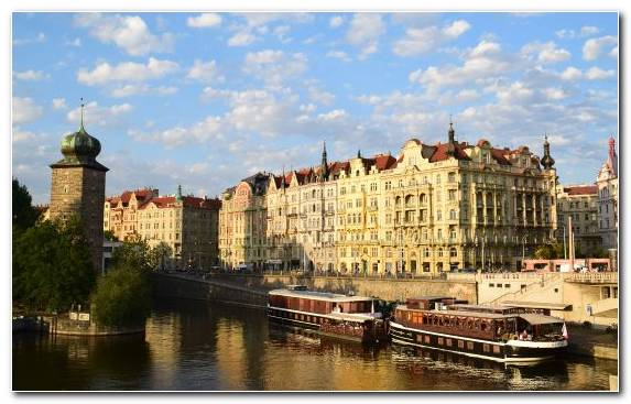 Image Tourist Attraction Cityscape Prague Channel City