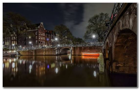 Image Tourist Attraction Town Night Tree Amsterdam