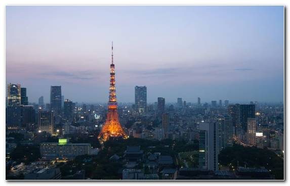 Image Tower Block Cityscape Skyline Tokyo Travel