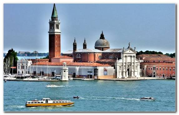 Image Tower Building Venice Church Of San Giorgio Maggiore Waterway