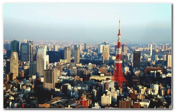Image Tower Horizon Tokyo Tower Metropolis Urban Area