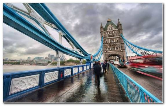 Image Tower Of London Suspension Bridge River Thames Capital City Metropolis