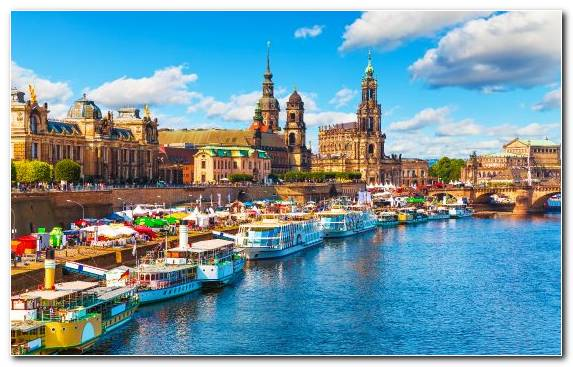 Image Town Harbor Waterway Elbe River Cruise