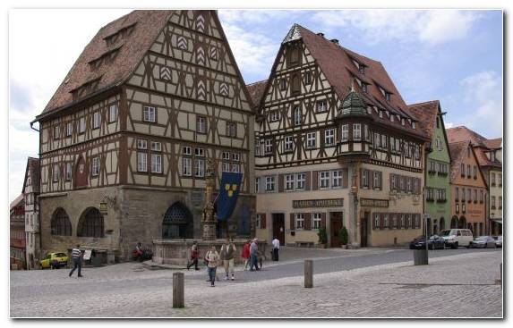 Image Town Neighbourhood Middle Ages City Classical Architecture