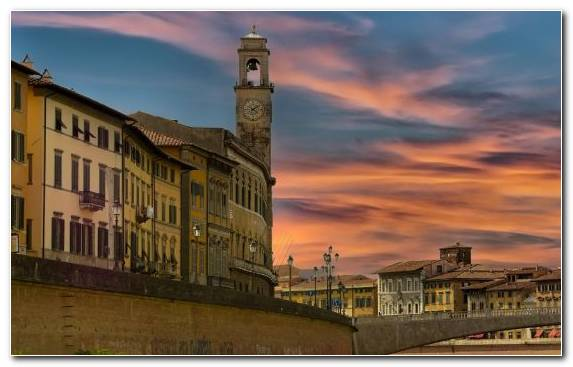 Image Town Sky Arno Twilight Building