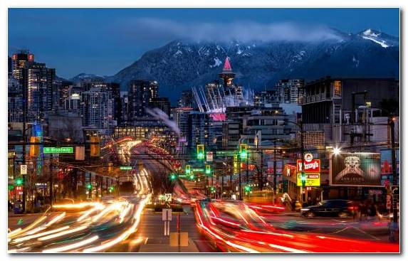 Image Town Urban Area Vancouver Capital City Night