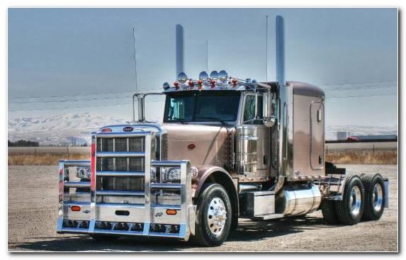 Image Trailer Truck Peterbilt Peterbilt 379 Truck Transport