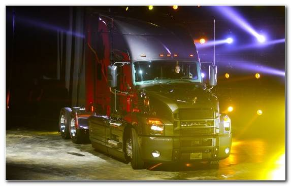 Image transport semi trailer truck car truck lighting