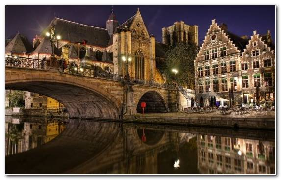 Image Travel Waterway Vacation Bruges Reflection