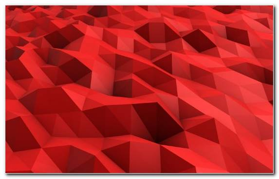 Image Triangle Symmetry Red Pattern