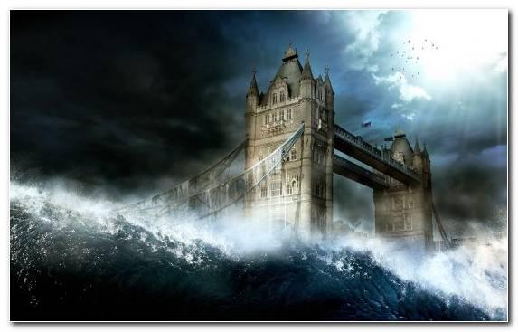 Image Tsunami Building Wave Sky Wind Wave