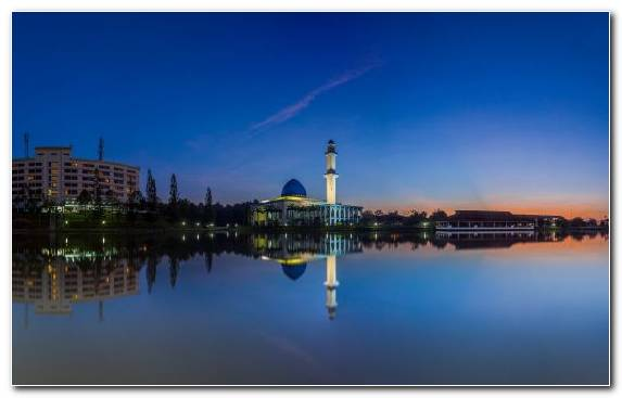 Image Twilight Horizon Salah Mosque God