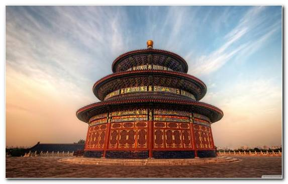 Image twilight landmark tourist attraction temple great wall of china