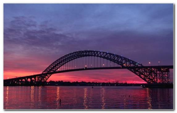 Image twilight waterway dusk arch bridge The Narrows